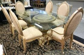 glass top pedestal dining table good with regard to prepare 1