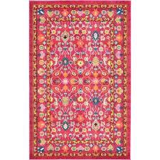 iris pink area rug rugs 5x8 bungalow rose