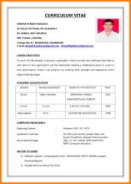 Sample Resume Format Pdf Resume Formats For Jobs Sample Resume Format For Job Application Pdf 11