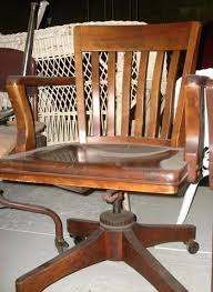 vintage wooden office chair. Antique Bankers Chair Vintage Wooden Office A I