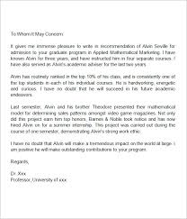 Recommendation Letter For Grad School Recommendation Letter For Masters Free Excel Templates