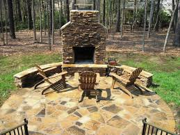 image of outdoor stone fireplace plans