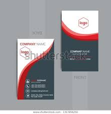 Free Personal Cards Vertical Business Card Print Template Personal Stock Vector