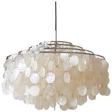 full size of lighting nice mother of pearl chandelier 11 verner panton 10dm pendant at 1stdibs