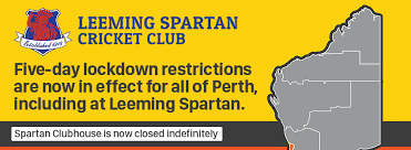 Wa was slated to relax its border restrictions with queensland and victoria next week after both states. Leeming Spartan Cricket Club