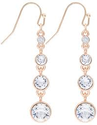graduated drop earrings with swarovski crystals