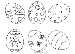 Easter Egg Colouring Pages For Adults Eggs Coloring Pdf Plain Free