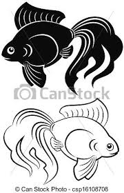 gold fish clip art black and white. Unique Gold Goldfish Vector Intended Gold Fish Clip Art Black And White I