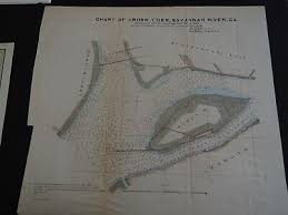 Map Of Savannah Ga And Charleston Sc 1855 Colton Maps
