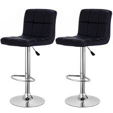 zimtown set of 2 adjustable swivel bar stools pu leather pub chairs with back com