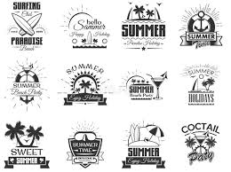 Summer Icons Set Flamingo Elements For Design Cards Poster