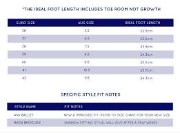Walnut Shoes Size Chart Women Shoe Size Guide Sacs On Jenkins Nundle Tamworth Region