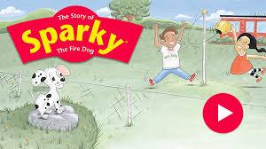 sparky the fire dog. sparky the fire dog c