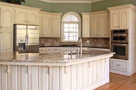 image of chalk painting kitchen cabinets