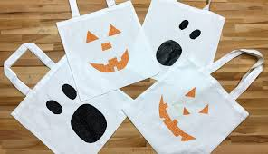 diy trick or treat tote bags no vinyl cutter required