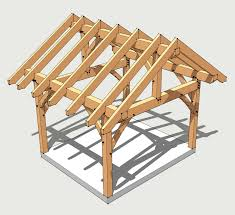 Shed Roof Designs 12x14 Timber Frame Plan Pavilion Porch And Beams