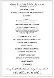 pinterest wedding programs. sample wedding reception program Ceremony Pinterest Wedding