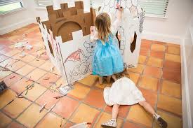 color your own playhouse castle makes a great beauty and the beast party activity this