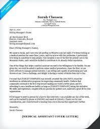 Cover Letter For Resume Medical Assistant Medical Assistant Student