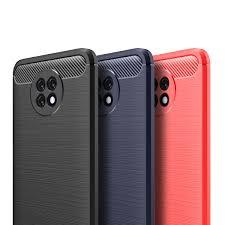 <b>ASLING Carbon Fiber</b> Back Cover Soft <b>TPU</b> Phone Case for XiaoMi ...