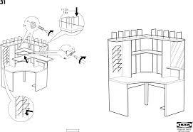 Ikea Instruction Manuals Ikea Accessories Mikael Corner Workstation Pdf Assembly