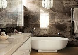 Luxury Bathroom Design With Brown Marble Bathroom Tile From Rex