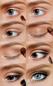 gold wing natural makeup for blue eyes