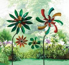 details about 2 iron kinetic garden wind spinners metal windmills outdoor yard lawn decor lot