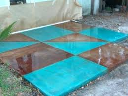 blue stained concrete patio. Simple Stained Acid Stained Concrete Patio By Sealing   In Blue Stained Concrete Patio D