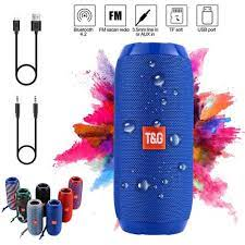 T & G 117 Loa Bluetooth Không Dây Di Động Không Dây Tai Nghe Bluetooth  Trung Tâm Âm Nhạc 4.2 95dB 1200 MAH Chống Nước T & G Bookshelf Speakers