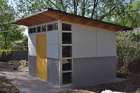 modern shed is perfect for storing tools and sport equipment while can also be converted into a home office or garden studio