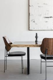 parota live edge table dining tablesindustrial dining chairsleather