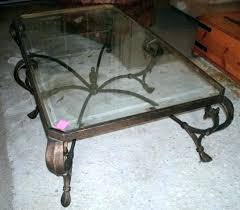 rod iron table wrought iron glass coffee table coffee table glass iron coffee table furniture sets
