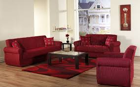 Living Room With Red Furniture Red Fabric Contemporary Living Room Sleeper Sofa W Storage