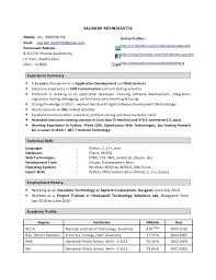 Resume Format For 1 Year Experienced Software Engineer 3 Experienced  Software Engineer Resume Samples Examples Sample