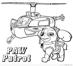 Clever Design Paw Patrol Free Coloring Pages Artsybarksy Avec Paw