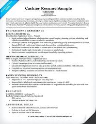 Cashier Resume Description Retail Cashier Resume Duties Computer Networking Technician Custom 38