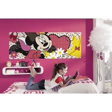 Minnie Mouse Wallpaper For Bedroom Minnie Mouse Dream Wallpaper Great Kidsbedrooms The Children