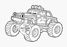 Niewu Monster Truck Kleurplaat Kleurplaat 2019