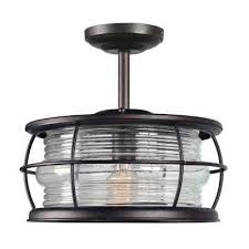beacon copper 1 light outdoor semi flushmount