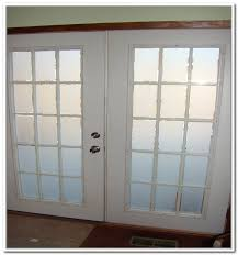 interior french doors with rain glass and photos
