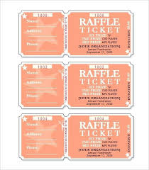 Free Raffle Ticket Template Word Format 317122585176 Fundraising