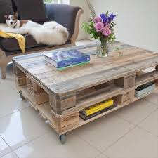 Pallet Coffee Table Industrial Style Upcycled Reclaimed by Crative
