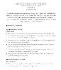 Sample For Teacher Resume Teaching Resumes Examples Teacher Resume