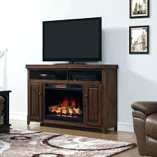 electric fireplace and media console center with glass embers tv stand berkeley infrared w gla