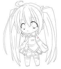 Chibi Anime Girl Coloring Pages To Print Coloring Sheets Chibi