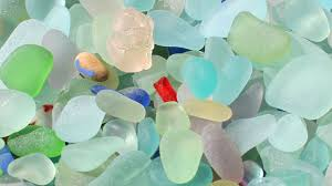 sea glass various colors
