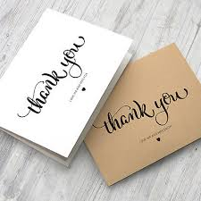 10 Personalised Wedding Thank You Note Cards With Envelopes (Ty0001 ...