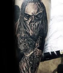 50 Slipknot Tattoos For Men Heavy Metal Band Design Ideas