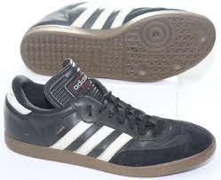 adidas men s samba classic indoor soccer shoes black leather sneakers size 9 5